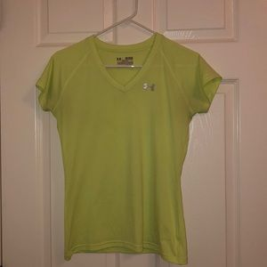 Under armour neon yellow active top